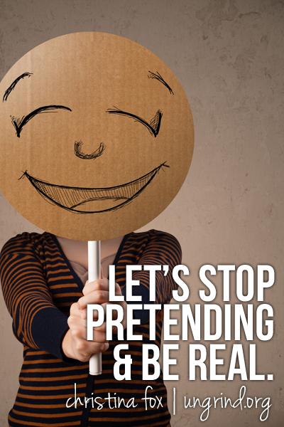 Pretending No More