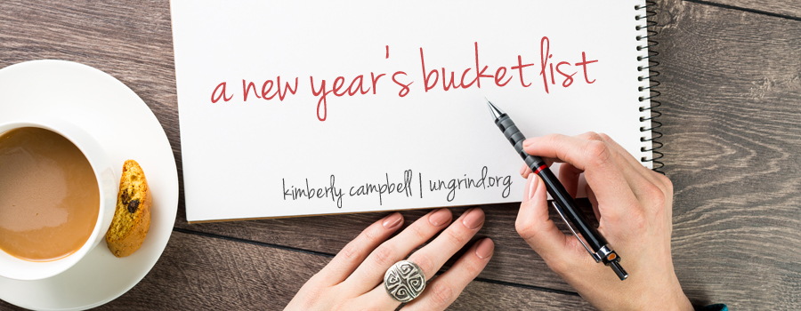 A New Year's Bucket List